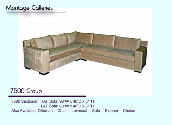 7500 sectional